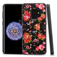 Tough Anti-Shock Hybrid Case for Samsung Galaxy S9 - Romantic Love Flowers