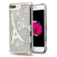 Tuff Lite Quicksand Glitter Case for iPhone 8 Plus / 7 Plus / 6S Plus / 6 Plus - Eiffel Tower Silver