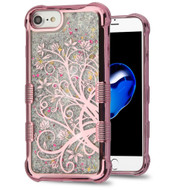 Tuff Lite Quicksand Glitter Electroplating Transparent Case for iPhone 8 / 7 / 6S / 6 - Maple Vine