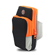 Universal Sports Neoprene Armband Pouch - Black Orange