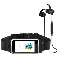 HyperGear ActiveGear Bluetooth Wireless Earphones + Sport Belt Set - Black