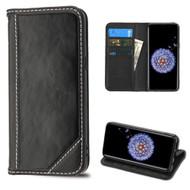 Mybat Genuine Leather Wallet Case for Samsung Galaxy S9 Plus - Black