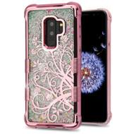 Tuff Lite Quicksand Glitter Electroplating Transparent Case for Samsung Galaxy S9 Plus - Maple Vine