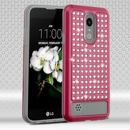 *Sale* Luxury Bling Diamond Hybrid Case for LG Aristo 2 / Fortune 2 / K8 (2018) / Tribute Dynasty / Zone 4 - Hot Pink