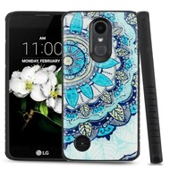 *Sale* Tough Triple Layer Hybrid Case for LG Aristo 2 / Fortune 2 / K8 (2018) / Tribute Dynasty / Zone 4 - Mandala Blue
