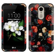 *Sale* Military Grade TUFF Case for LG Aristo 2 / Fortune 2 / K8 (2018) / Tribute Dynasty / Zone 4 - Red and White Roses