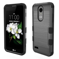 *Sale* Military Grade Brushed TUFF Hybrid Case for LG Aristo 2 / Fortune 2 / Tribute Dynasty / Zone 4 - Black