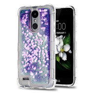 Tuff Lite Quicksand Glitter Case for LG Aristo 2 / Fortune 2 / K8 (2018) / Tribute Dynasty / Zone 4 - Purple