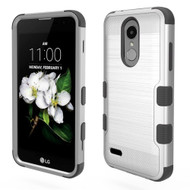 *Sale* Military Grade Brushed TUFF Case for LG Aristo 2 / Fortune 2 / K8 (2018) / Tribute Dynasty / Zone 4 - Silver