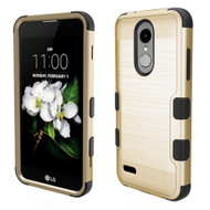 Military Grade Brushed TUFF Hybrid Case for LG Aristo 2 / Fortune 2 / K8 (2018) / Tribute Dynasty / Zone 4 - Gold