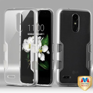 *Sale* TUFF Panoview Transparent Hybrid Case for LG Aristo 2 / Fortune 2 / K8 (2018) / Tribute Dynasty / Zone 4 - Silver