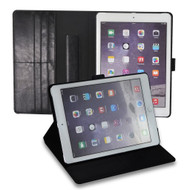 *Sale* Premium Book-Style Smart Leather Folio Case with Screen Protector for iPad Air 2 - Black