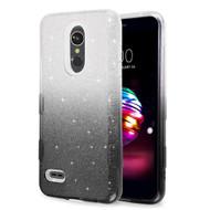 Tuff Full Glitter Hybrid Protective Case for LG K30 - Gradient Black