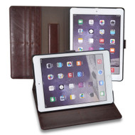 *Sale* Premium Book-Style Smart Leather Folio Case with Screen Protector for iPad Air 2 - Brown