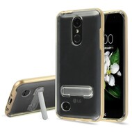 *Sale* Bumper Shield Case with Stand for LG Aristo 2 / Fortune 2 / K8 (2018) / Tribute Dynasty / Zone 4 - Gold