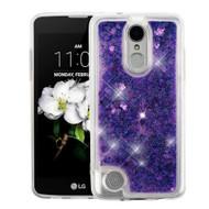 Quicksand Glitter Transparent Case for LG Aristo 2 / Fortune 2 / K8 (2018) / Tribute Dynasty / Zone 4 - Purple