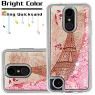 Quicksand Transparent Case for LG Aristo 2 / Fortune 2 / K8 (2018) / Tribute Dynasty / Zone 4 - Eiffel Tower