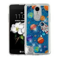 Quicksand Glitter Transparent Case for LG Aristo 2 / Fortune 2 / K8 (2018) / Tribute Dynasty / Zone 4 - Planets