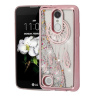 Electroplating Quicksand Case for LG Aristo 2 / Fortune 2 / K8 (2018) / Tribute Dynasty - Dreamcatcher Rose Gold