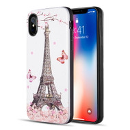 *Sale* Art Pop Series 3D Embossed Printing Hybrid Case for iPhone XS / X - Eiffel Tower