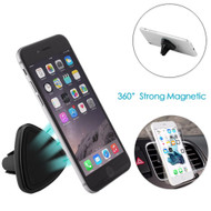 Triangle Magnetic Car Air Vent Mount Holder - Black