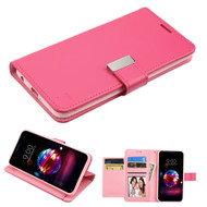 Essential Leather Wallet Stand Case for LG K30 - Hot Pink