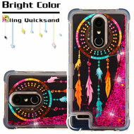 Tuff Lite Quicksand Glitter Case for LG K30 - Dreamcatcher Hot Pink