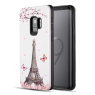 *Sale* Art Pop Series 3D Embossed Printing Hybrid Case for Samsung Galaxy S9 - Eiffel Tower
