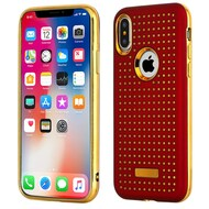 *Sale* Dot Grid Dual Layer Hybrid Case for iPhone XS / X - Red