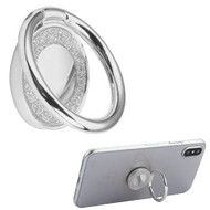 Smart Loop Universal Smartphone Holder & Stand - Crystal Bling Silver