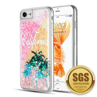 Quicksand Glitter Transparent Case for iPhone 8 / 7 / 6S / 6 - California
