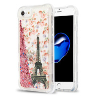 Tuff Lite Quicksand Glitter Transparent Case for iPhone 8 / 7 / 6S / 6 - Paris Full Bloom