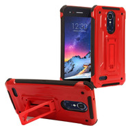 *Sale* Rugged Hybrid Kickstand Case for LG Aristo 2 / Fortune 2 / K8 (2018) / Tribute Dynasty / Zone 4 - Red