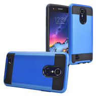 *Sale* Brushed Coated Hybrid Armor Case for LG Aristo 2 / Fortune 2 / K8 (2018) / Tribute Dynasty / Zone 4 - Blue
