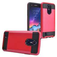 *Sale* Brushed Coated Hybrid Armor Case for LG Aristo 2 / Fortune 2 / K8 (2018) / Tribute Dynasty / Zone 4 - Red