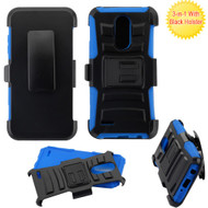 *SALE* Advanced Armor Hybrid Stand Case + Holster for LG Aristo 2 / Fortune 2 / Tribute Dynasty / Zone 4 - Blue