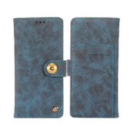 *Sale* Faux Suede Leather Wallet with Magnetic Case for LG Aristo 2 / Fortune 2 / K8 (2018) / Tribute Dynasty - Blue