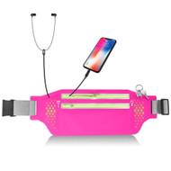 Water Resistant Fanny Waist Pack Pocket Belt - Hot Pink