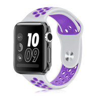 Performance Sports Silicone Watch Band for Apple Watch 44mm / 42mm - White Purple