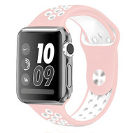 Performance Sports Silicone Watch Band for Apple Watch 44mm / 42mm - Pink White