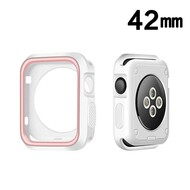 Performance Sports Bumper Case for Apple Watch 42mm - Pink White