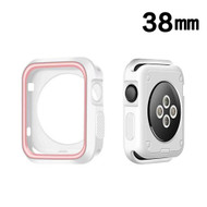 Performance Sports Bumper Case for Apple Watch 38mm - Pink White