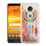 *Sale* Quicksand Glitter Transparent Case for Motorola Moto E5 Plus - Dreamcatcher