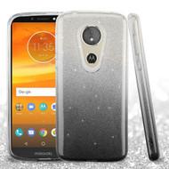 Full Glitter Hybrid Protective Case for Motorola Moto E5 Plus - Gradient Black