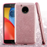*Sale* Full Glitter Hybrid Protective Case for Motorola Moto E4 Plus - Pink