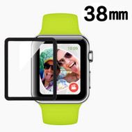 Full Coverage Premium 3D Tempered Glass Screen Protector for Apple Watch 38mm - Black