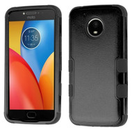 Military Grade Certified TUFF Image Hybrid Armor Case for Motorola Moto E4 Plus - Black