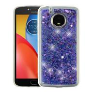 Quicksand Glitter Transparent Case for Motorola Moto E4 Plus - Purple