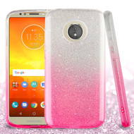 Full Glitter Hybrid Protective Case for Motorola Moto E5 Play / E5 Cruise - Gradient Pink