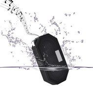 IP65 Waterproof Bluetooth Wireless Pocket Speaker with Built-In Mic - Black